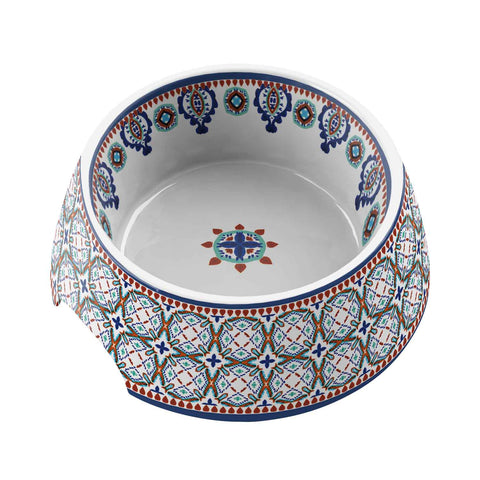 Moroccan Medium Pet Bowl Multi (Set of 2)