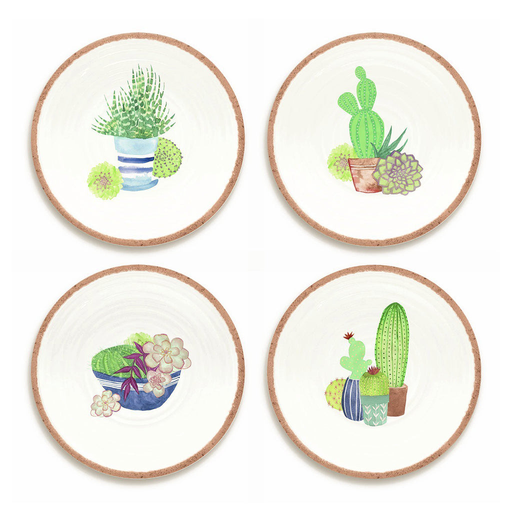 Rio Succulents Set Of 4 Salad Plates