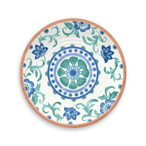 Rio Turquoise Floral Salad Plate (Set of 6)