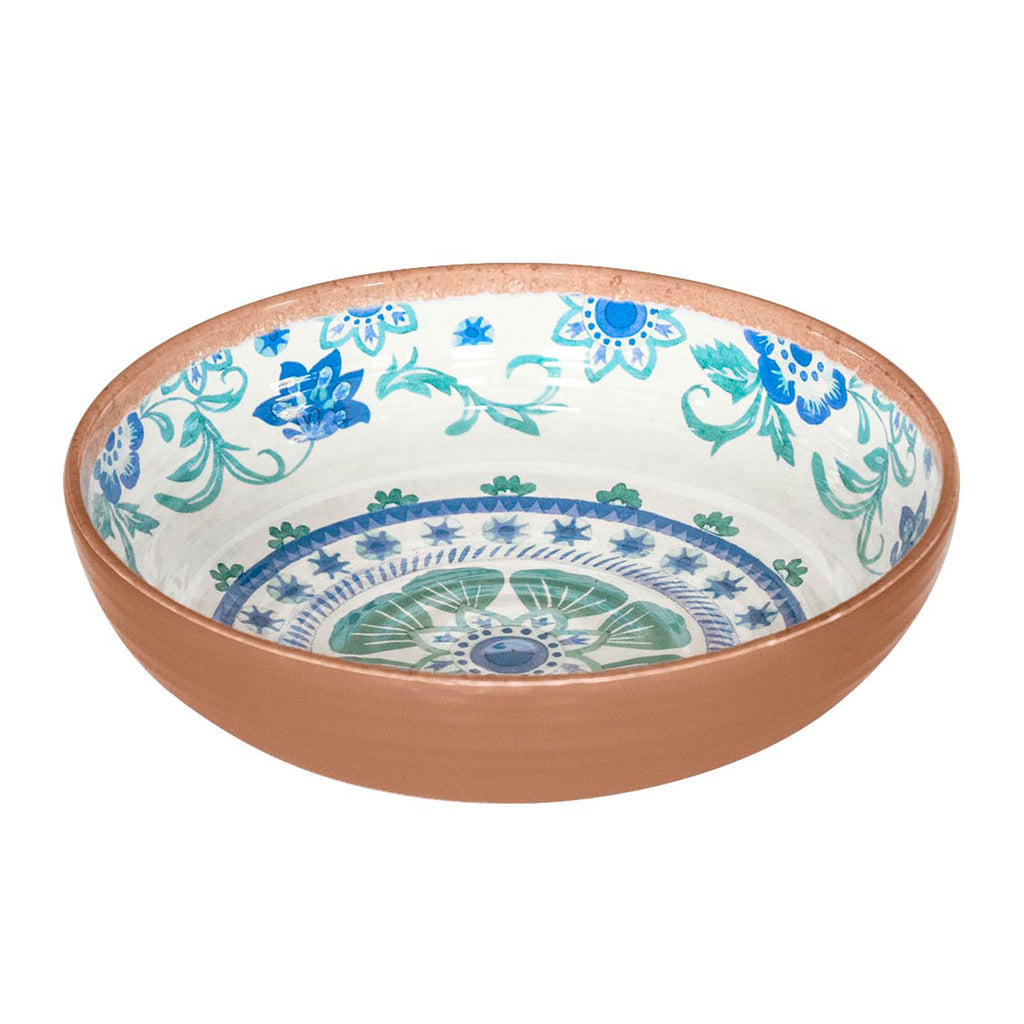Rio Turquoise Floral Bowl (Set of 6)