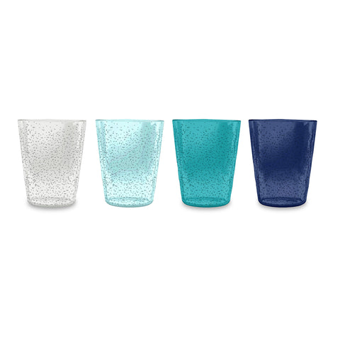 Memento Set Of 4 Bubble Rustic Tumblers Dof