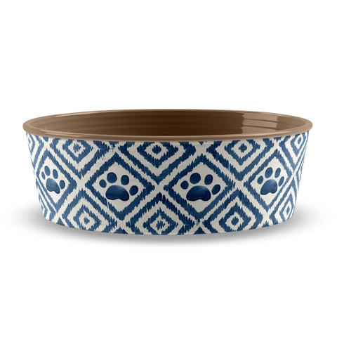 PAW IKAT SMALL PET BOWL TEAL