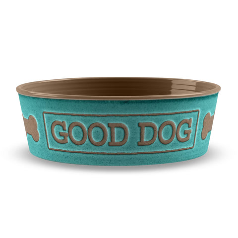 GOOD DOG MEDIUM PET BOWL TEAL
