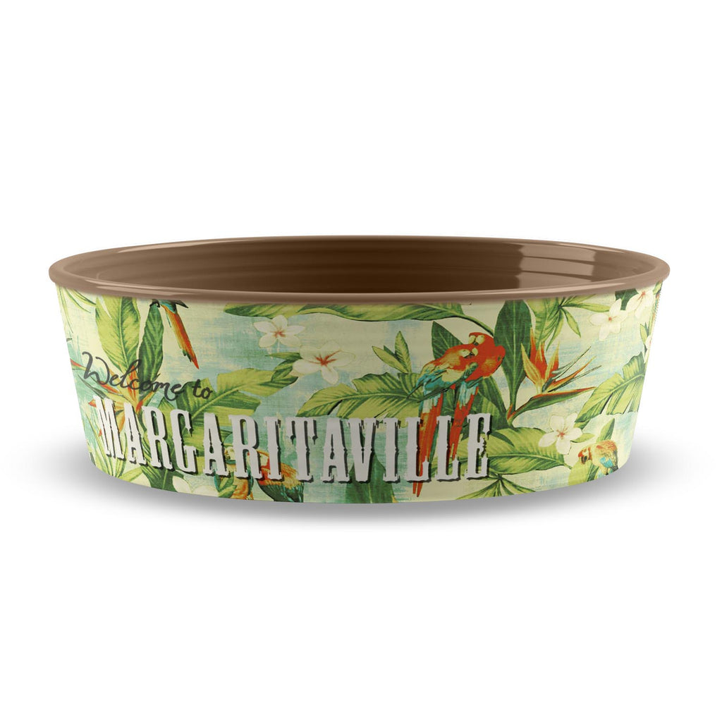 MARGARITAVILLE® HAWAIIAN TROPIC LARGE PET BOWL - Abode Homewares