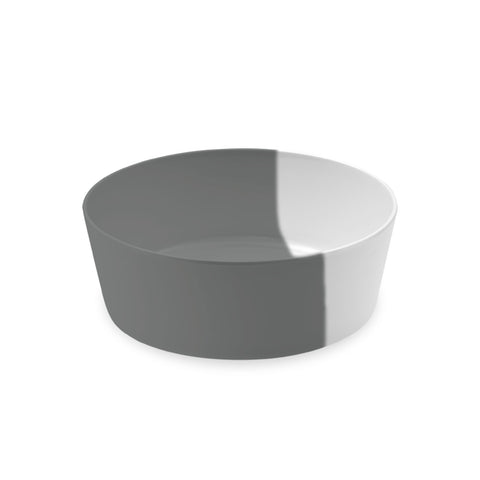 "Dual Pet Bowl, Large, Grey, 7"" x 2.5"",  5 Cups, Melamine, Set of 2"