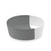 "Dual Pet Bowl, Medium, Grey, 6"" x 2.2"",  3 Cups, Melamine, Set of 2"