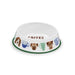 "Coffee And Dogs Pet Bowl, Medium, 9"" x 2.4"",  4 Cups, Melamine, Set of 2"