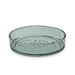 "Paw Fish Bone Pet Bowl, Small, Avio Momento Green, 5.5"" x 1.2"", Premium Plastic, Set of 2"