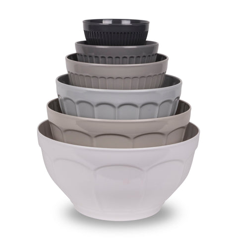 FRENCH COUNTRY GREY 6-PIECE MIXING BOWL SET - Abode Homewares
