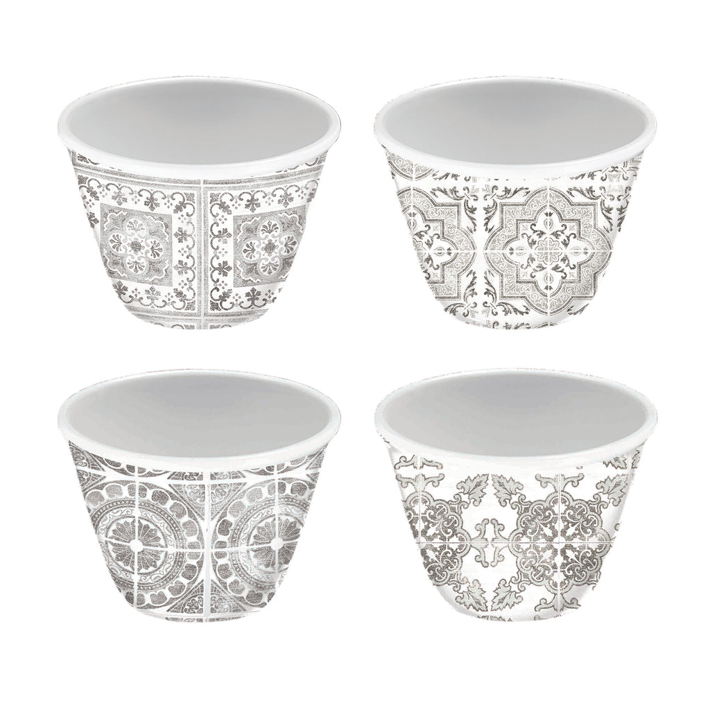 Portico Tile Gray Set Of 4 Dip Bowl