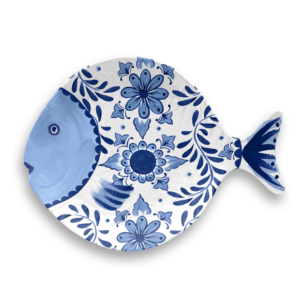 COBALT CASITA FIGURAL FISH TRAY - Abode Homewares