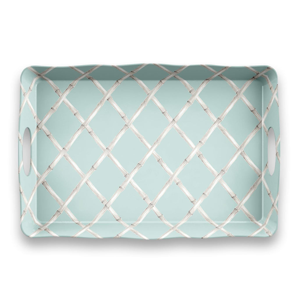 SPRING CHINOISERIE HANDLED TRAY - Abode Homewares