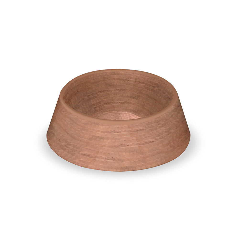 HAMMERED COPPER DOUBLE WALL PET BOWL - Abode Homewares