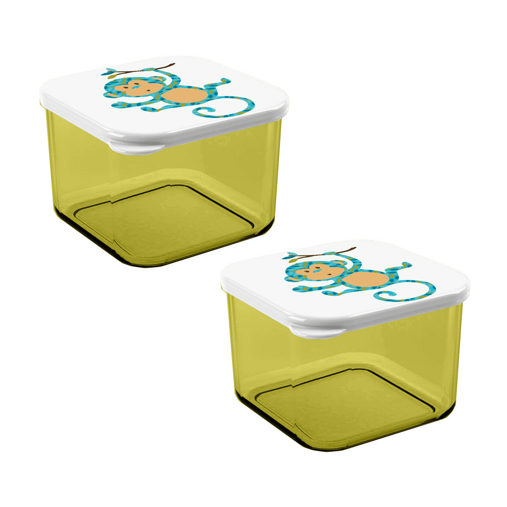Monkey Snack Box, Acrylic, Set of 2