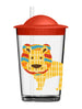Lion Straw Cup, 9.8 oz., Acrylic, Set of 2