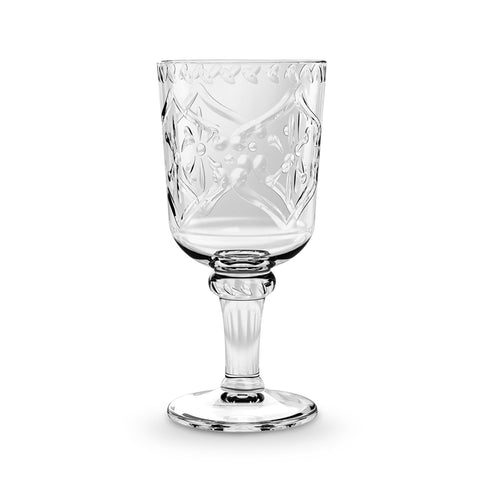 16.9 OZ SCROLL CUT GOBLET - Abode Homewares