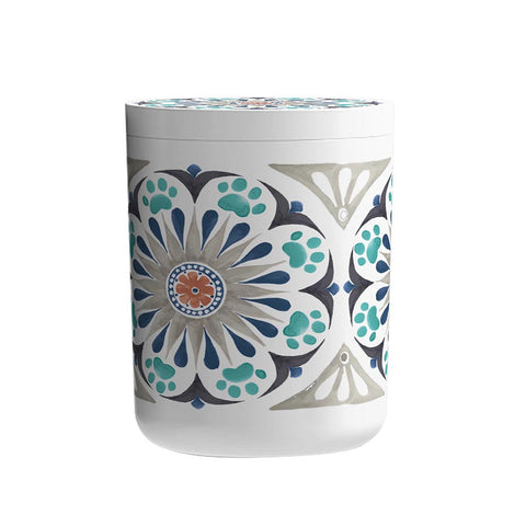 CARMEL MEDALLION TREAT JAR GREY - Abode Homewares