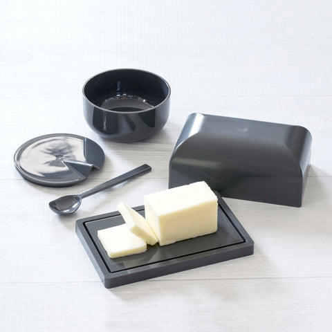 DUO SLATE BUTTERDISH & BOWL W/SPOON - Abode Homewares
