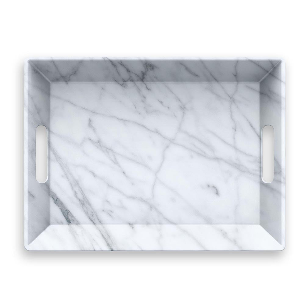 CARRARA HANDLED SERVE TRAY - Abode Homewares
