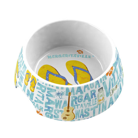 MARGARITAVILLE® WORDS AND ICONS MEDIUM PET BOWL - Abode Homewares