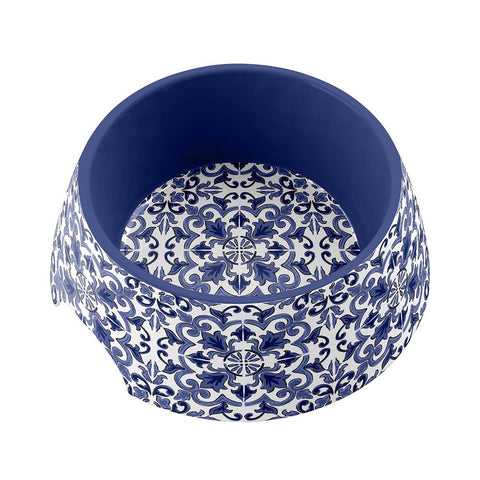 CANYON CLAY MEDIUM PET BOWL INDIGO - Abode Homewares