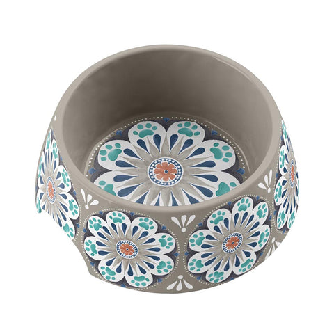 CARMEL MEDALLION MEDIUM PET BOWL - Abode Homewares