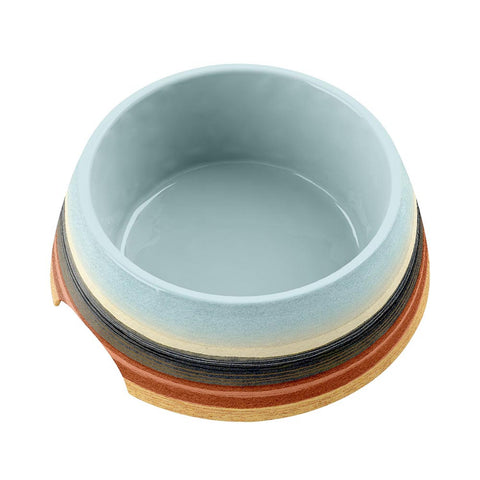 DESERT STRIPE MEDIUM PET BOWL OMBRE - Abode Homewares