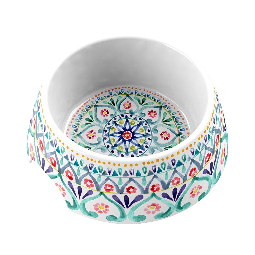 BOHO MEDALLION MEDIUM PET BOWL - Abode Homewares