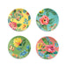 GARDEN FLORAL ASSORTED SET OF 4 SALAD PLATES - Abode Homewares