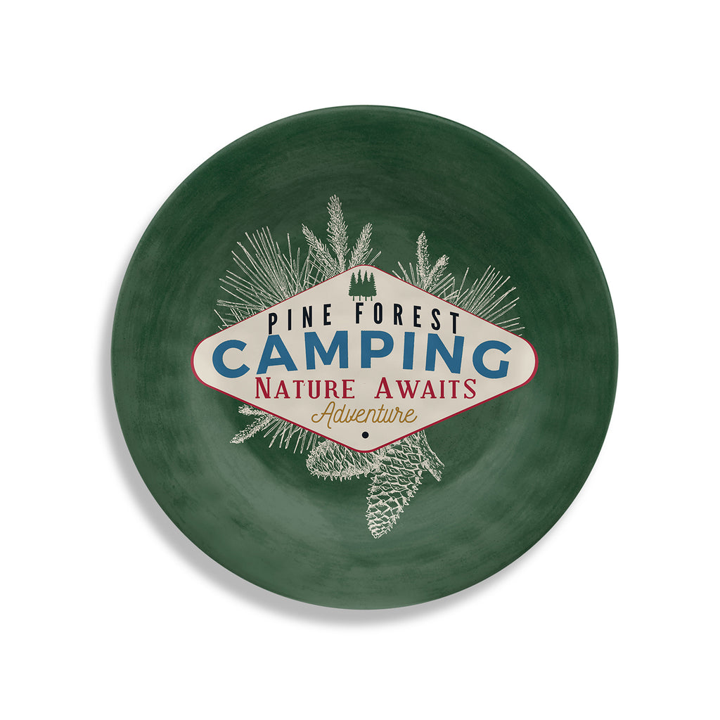 Vintage Lodge Camping Salad Plate (Set of 6)