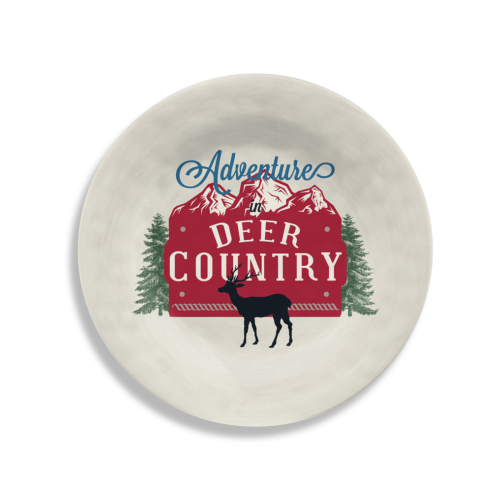 Vintage Lodge Deer Country Salad Plate (Set of 6)