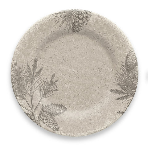 RUSTIC PINE DINNER PLATE - Abode Homewares