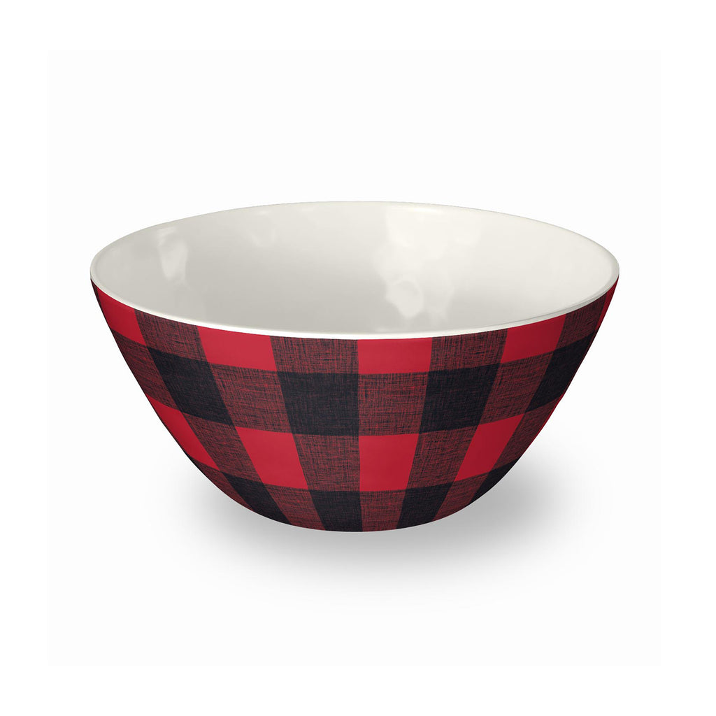 Vintage Lodge Check Bowl (Set of 6)