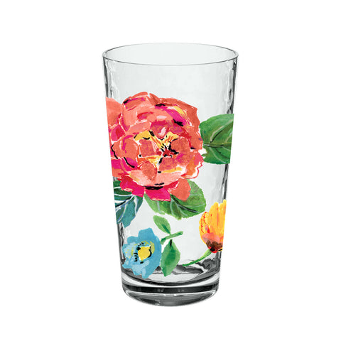 21.5 oz Garden Floral Jumbo Glasses (Set of 6)