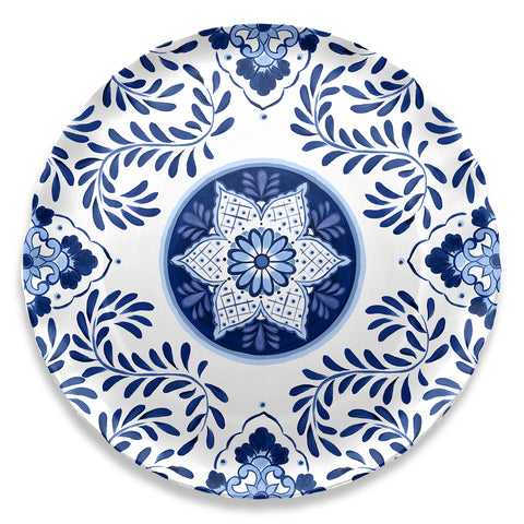 Cobalt Casita Round Serve Tray