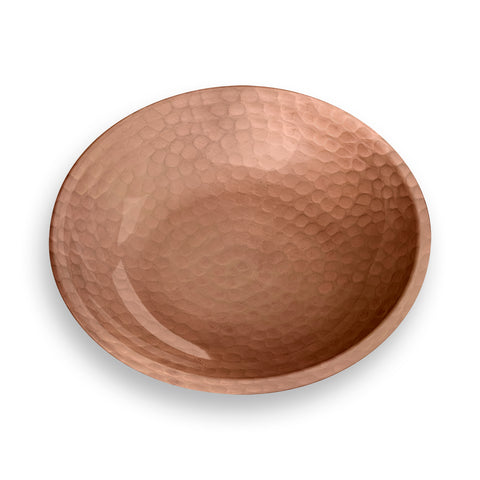 Hammered Copper Pet Saucer (Set of 2)