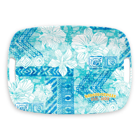 TIE DYE HIBISCUS COOL HANDLED TRAY - Abode Homewares
