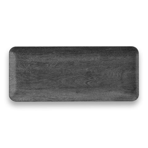 "Faux Real Blackened Wood Tray, 17.8"" x 7.5"", 17.8"" x 7.5"", Melamine"