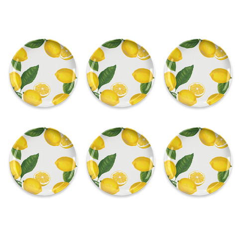 "Lemon Fresh Dinner Plate, 10.5"", Melamine, Set of 6"