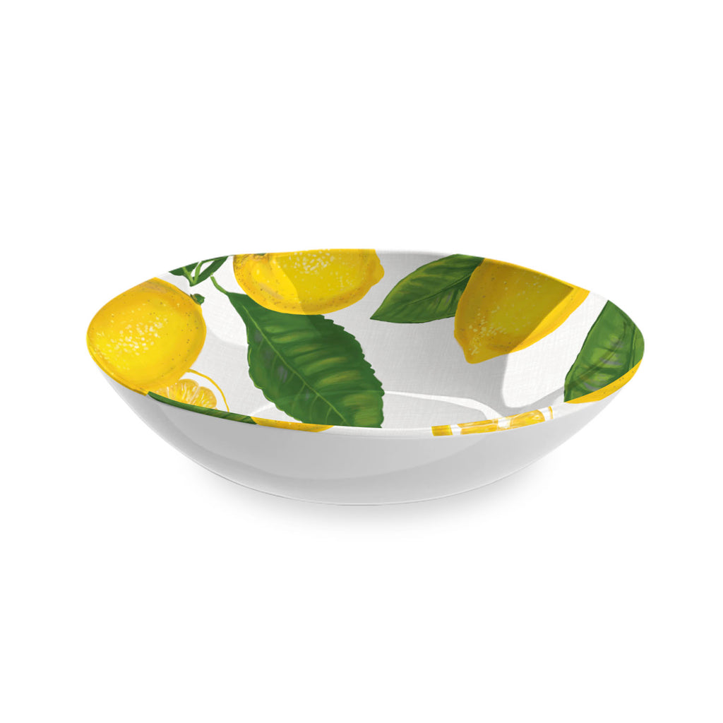 "Lemon Fresh Serve Bowl, 12"" x 3"",  112 oz. , Melamine"