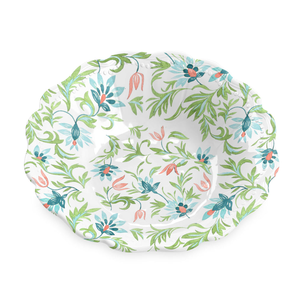 "Chinoiserie Botanical  Serve Bowl, 13.8"",  135 Oz., Melamine"