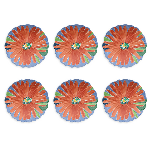 "Midsummer Figural Side Plate, 8.5"", Melamine, Set of 6"