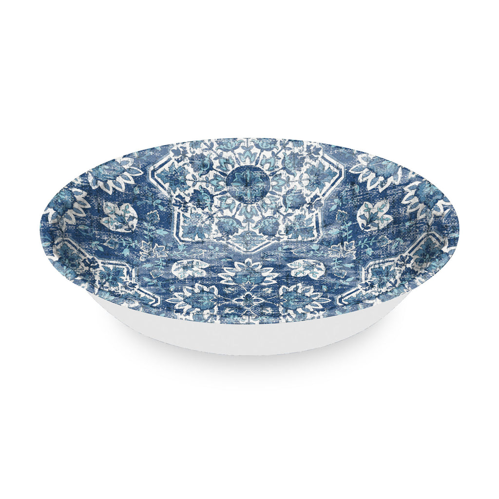 "Atlantic Blue Medallion Serve Bowl, 13.8"",  126 oz., Melamine"