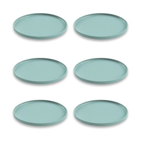 "Palermo Bamboo Dinner Plate, Teal, 10.5"", Proprietary Merge Material Mix (Bamboo powder & Melamine), Set of 6"