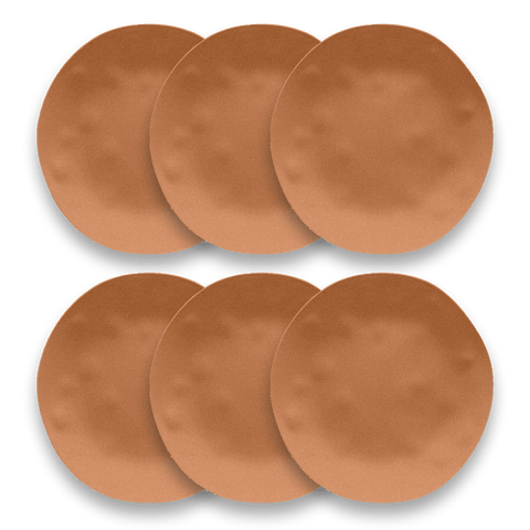 "Planta Matte Terra Cotta Dinner, 10.5"", Planta (Majority Plant Based Melamine Material), Set of 6"