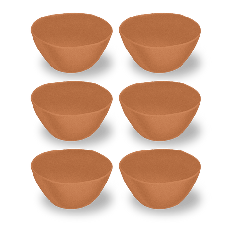 "Planta Matte Terra Cotta Cereal Bowl, 6"" / 13.5 oz, Planta (Majority Plant Based Melamine Material), Set of 6"