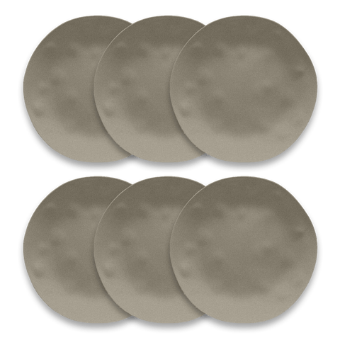 "Planta Matte Dune Dinner, 10.5"", Planta (Majority Plant Based Melamine Material), Set of 6"