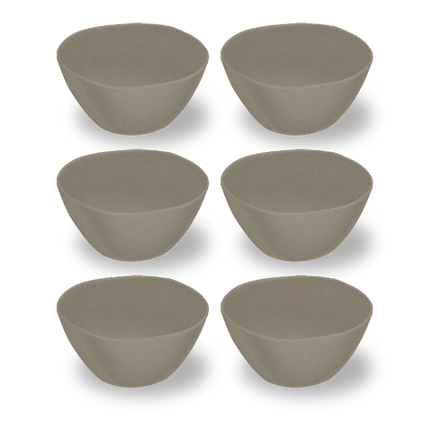 "Planta Matte Dune Cereal Bowl, 6"" / 13.5 oz, Planta (Majority Plant Based Melamine Material), Set of 6"