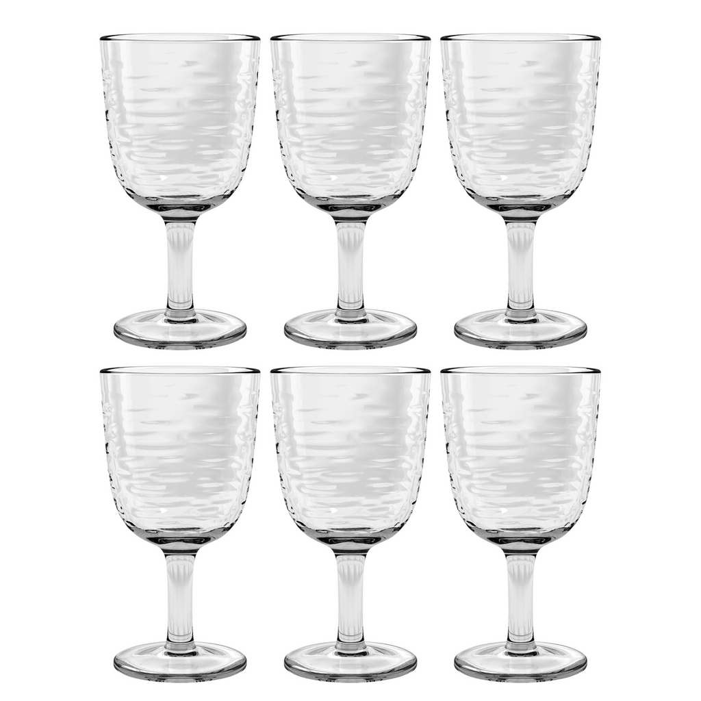 Foundry Goblet, Clear, 13.5 oz., Acrylic, Set of 6
