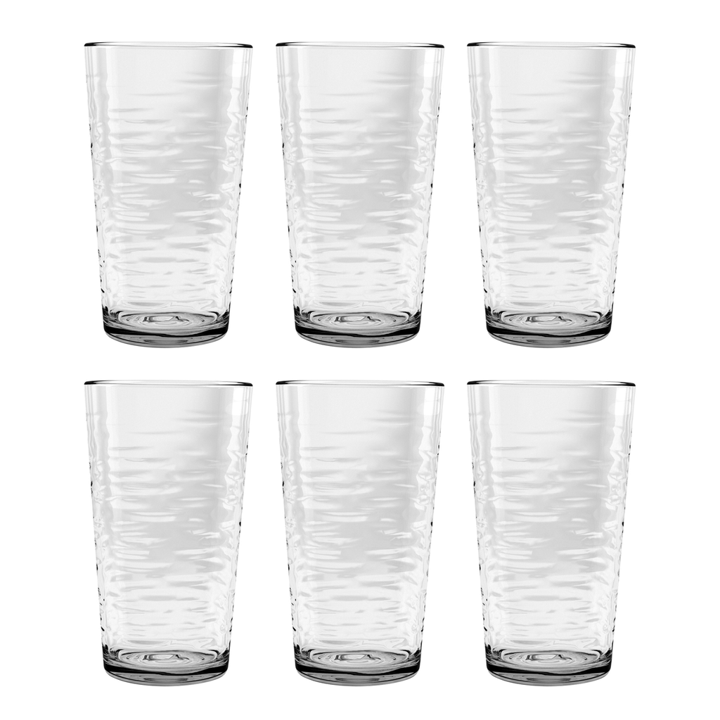 Foundry Jumbo, Clear, 20.6 oz., Acrylic, Set of 6